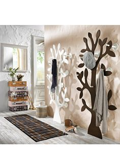 "Garderobe ""Baum"", bpc living, weiß"
