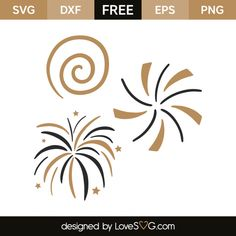 *** FREE SVG CUT FILE for Cricut, Silhouette and more *** New year fireworks