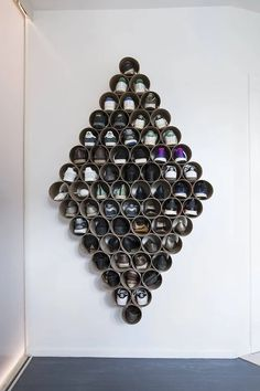 This DIY diamond shaped shoe rack is made of cardboard tubes. It's the perfect shoe storage idea for small spaces. Diy Shoe Storage, Diy Shoe Rack, Craft Storage, Shoe Racks, Diy Shoe Organizer, Bedroom Storage, Closet Organization, Organization Ideas, Shoe Rack With Shelf