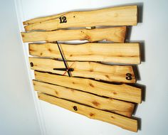 XXL Live edge natural rustic wall clock made of solid by BugValley
