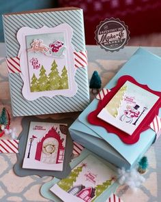 Stamped Package Toppers by Betsy Veldman for Papertrey Ink (September 2015)