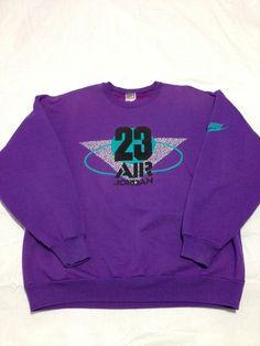 2c2d45d92db2 VTG 80s 90s Nike Grey Tag Air Jordan Sweatshirt Jumpman Logo Wings Flight  Retro