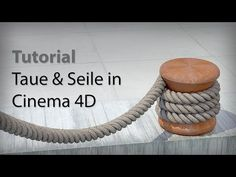 Tutorial Taue und Seile in cinema 4D bauen, Rope Generator plugin Reeper for cinema 4d EN Subtitles - YouTube