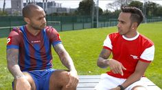 After their football match footballer and Sky Sports pundit Thierry Henry and 2014 F1 World Champion Lewis Hamilton chat about winning and losing