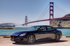 At last, the #newQuattroporte coast-to-coast road trip has reached its destination. Time to celebrate with a photoshoot in front of #GoldenGate bridge!