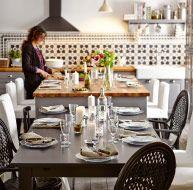 Îlot de cuisine avec table STORNÄS et chaises ÄLMSTA