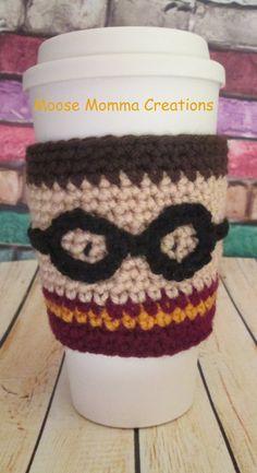 Hand Crocheted Harry Potter Inspired Coffee by MooseMommaCreations, $10.00