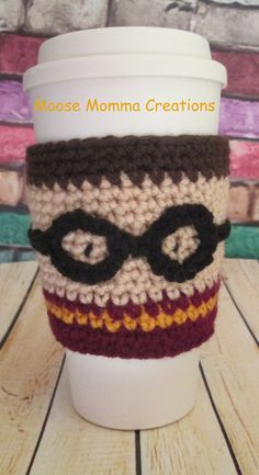 Hand Crocheted Harry Potter Inspired Coffee by MooseMommaCreations, $10.00