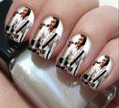 Elvis decal Nails