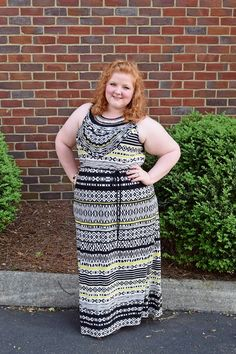 Breaking My Own Rules. Aztec print maxi dress from Catherines. Plus size fashion, travel, and lifestyle blogger at www.withwonderandwhimsy.com. #plussizefashion #ootd #styleinspiration #plussizeoutfit #maxidress #springstyle2015