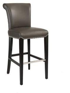 Bar Stools Walmart, Beach Interior Design, Island Chairs, Open Plan Kitchen Living Room, Counter Height Bar Stools, Leather Bar Stools, Kitchen Chairs, Foot Rest, Grey Leather