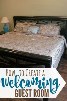 Simple tips on how to create a welcoming guest room for your visitors. via @amomstake
