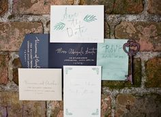 Wedding Invitations on SMP by Ruffled Ink | http://www.stylemepretty.com/2013/11/25/irish-castle-inspiration-shoot-from-chris-isham-photography | Photography: Chris Isham