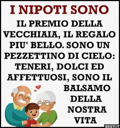 I nipoti | BESTI.it - immagini divertenti, foto, barzellette, video Maria Grazia, Mamma Mia, Idioms, Smiley, To My Daughter, Wisdom, Humor, Italian Quotes, Smile