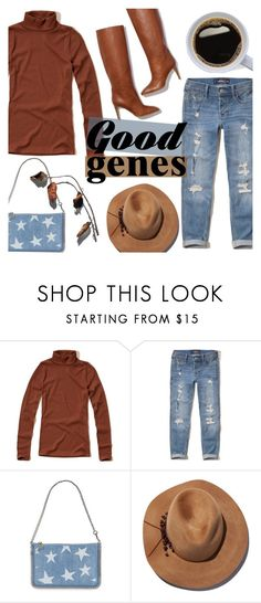 """""""Good Genes"""" by alexandrazeres ❤ liked on Polyvore featuring Hollister Co., Pierre Hardy, STELLA McCARTNEY, Eugenia Kim, denim, jeans, falloutfit and GoodGenes"""