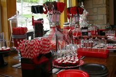 Graduation Party!  Red and Black