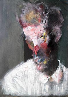 Study for Portrait of Egon Schiele by Ryck Rudd, 2012 L'art Du Portrait, Abstract Portrait, Portraits, Modern Art, Contemporary Art, Art Et Illustration, Art Plastique, Surreal Art, Community Art