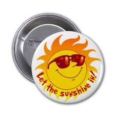 Let the sunshine in with this cheerful smiling sun design!