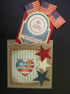 F4A63 4th of July Pocket Card by hobbydujour - Cards and Paper Crafts at Splitcoaststampers