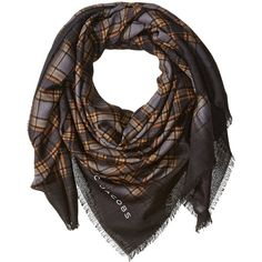 Marc Jacobs Women's Blur Check Stole In Camel Multi ($450) ❤ liked on Polyvore featuring accessories, scarves, marc jacobs, marc jacobs scarves and checkered scarves