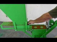 Maquina ou Prensa de tijolo ecologico - YouTube