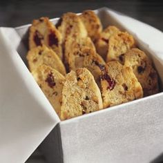 Hazelnut and Dried Cherry Biscotti |Williams-Sonoma