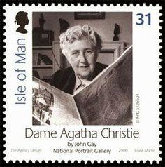 Agatha Christie (1890-1976) Seal of the Isle of Man, UK.