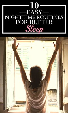 These 10 easy nighttime routines for better sleep are GREAT! I just tried the 4-7-8 technique and I was already falling asleep! I LOVE THIS! I'm definitely pinning for later!