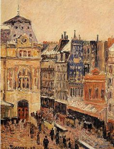 Camille Pissarro. View of Paris, Rue d'Amsterdam, 1897.Oil on canvas. 35 x 27 cm. Private collection.