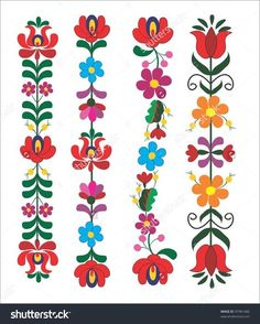 c270cbcc71 embroidery hungarian pattern Kalocsai, Hímzésminták, Hímzőöltések, Bőr  Karkötők, Brazil Hímzés, Hímzés