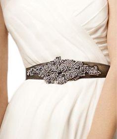 David's Bridal Crystal Sash---love the idea but wish it looked a little less. Wedding Bridesmaid Dresses, Wedding Gowns, Wedding Bells, Vera Day, Dress Attire, Bridal Beauty, Davids Bridal, Wedding Inspiration, Wedding Ideas