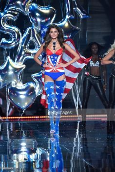 Model and New Victoria's Secret Angel Taylor Hill from Illinois walks the runway during the 2015 Victoria's Secret Fashion Show at Lexington Armory on November 10, 2015 in New York City.