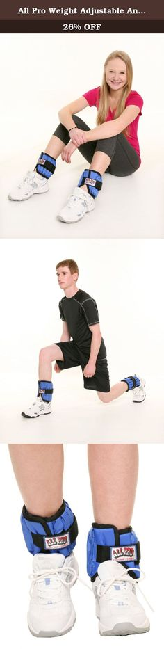 All Pro Weight Adjustable Ankle Weights, 10-lb pair (up to 5-lbs per ankle). All Pro Exercise Products is the leader in premium quality, weight adjustable, hand-held or body-worn products for fitness, health and wellness. All Pro's patented products have been specially designed by a former leading occupational therapist with health, safety and comfort in mind. All Pro offers a wide range of weight adjustable products, including ankle weights, wrist weights, thigh weights, upper arm…