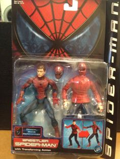 Amazon.com: Spiderman Wrestler with Transofrming Action Series 3: Toys & Games