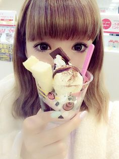♡• CʋTε F00D~~ •♡ ice cream - parfait - chocolate - japanese sweets - kawaii