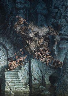 Paul Bonner - Fantasy Illustration | Dwarves Dwarf Ruins Warrior Troll