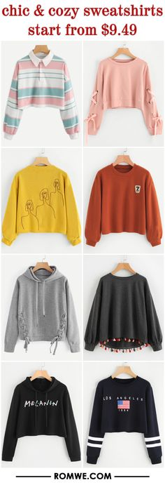 chic & cozy sweatshirts from $9.49