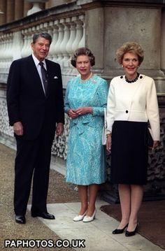 Ronald Reagan, Queen Elizabeth, Nancy Reagan