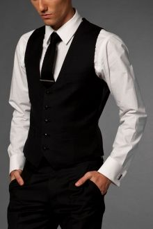 Fashion Forward Black Vest | Indochino