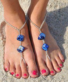 Blue Marine Shell Barefoot Sandal