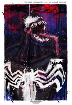Venom Artist-Signed Print, Archival Quality Abstract Art signed by artist New Venom, Venom Art, Wood Art Panels, Panel Art, Spiderman Movie, Batman, Marvel Wallpaper, Hd Wallpaper, Comic Art