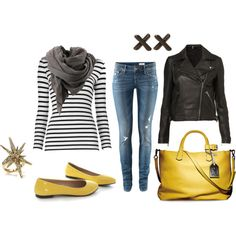 black and yellow, created by erin-randolph-hogan on Polyvore