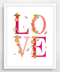Look at this Valentine Garden 'Love' Print on #zulily today!