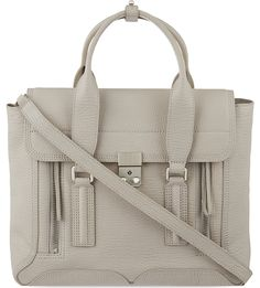 3.1 PHILLIP LIM The Pashli medium leather trapeze bag (Feather