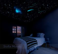 Glow In The Dark Star Ceiling | 400 1000 Glow Star Stickers | Moon,