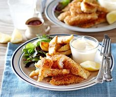Crunchy fish goujons and wedges recipe | Food To Love