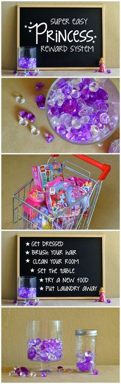 Doing This!! Give your child a behavior makeover with a very visual and fun princess reward system!  You can adapt it for boys and other characters too!