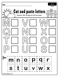 Spring preschool worksheets printable pack Free printable spring worksheets for preschool – fun spring activities for fine motor skills, numbers, letters, cut and paste, and more! Letter Activities, Preschool Learning Activities, Free Preschool, Preschool Lessons, Spring Activities, Preschool Age, Fun Learning, Toddler Learning, Toddler Activities