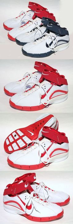 Women 158972: Very Rare New Nike Zoom Air Huarache Excel Women Basketball Shoes Red / Blue 06 -> BUY IT NOW ONLY: $59.99 on eBay!