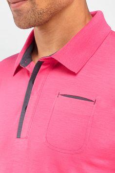 Hombre Camisa Polo, Polo T Shirts, Boys Shirts, Mens Tees, Shirt Men, Surf Wear, Tailored Shirts, Long Sleeve Shirts, Shirt Designs